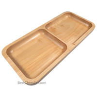 Anza Solid Maple Wood Rectangular Display Platter and Tray, Small