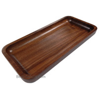 Irving Solid Walnut Wood Rectangular Display Platter and Tray, Small