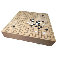 Kirkham Maple Wood Go Game Set with Storage – Large Tournament Size Board – 18.25 x 17.15 x 3.75 in