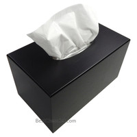 Avila Black Wood Large Deluxe Tissue Paper Box Cover