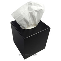 Broderick Black Wood Boutique Tissue Paper Box Cover