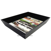 Pierce Black Wood Letter Size Paper Tray Organizer for Office Desk