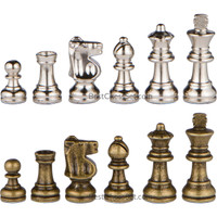 REPLACEMENT CHESS PIECES ONLY for Odysseus Metal Weighted Chess Pieces with Extra Queens - Pieces Only – No Board – 2.5 Inch King