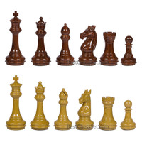 Whittier High Polymer Weighted Chess Pieces with 3.75 Inch King and Extra Queens, Pieces Only, No Board