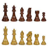 Ravilla High Polymer Weighted Chess Pieces with 3.75 Inch King and Extra Queens, Pieces Only, No Board