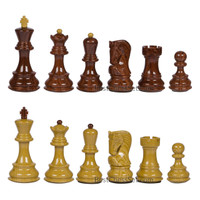 Bellevue High Polymer Weighted Chess Pieces with 3.75 Inch King and Extra Queens, Pieces Only, No Board