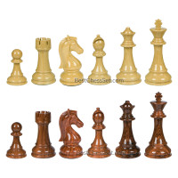 Piper High Polymer Weighted Chess Pieces with 3 Inch King and Extra Queens, Pieces Only, No Board