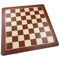 Templeton Rounded Corners Chess Board with Inlaid Padauk Wood – Chessboard Only – 19 Inch