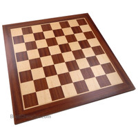 Brunswick Chess Board with Inlaid Sapele Wood, Extra Large 19 x 19 Inch, Chessboard Only