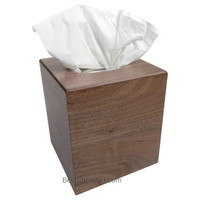 Noriega Walnut Wood Boutique Tissue Paper Box Cover