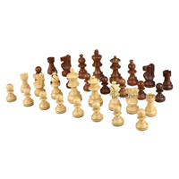 Morrigan Weighted Wood Chess Pieces, 3.5 Inch King, Pieces Only, No Board