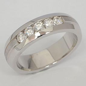 Men's Diamond Wedding Band diawb144
