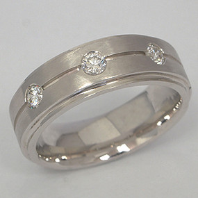 Men's Diamond Wedding Band diawb109