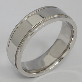 Men's White gold Wedding Band pgwb172-gold-wedding-band