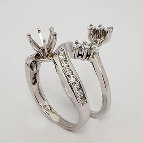 White Gold Wedding Set ws161