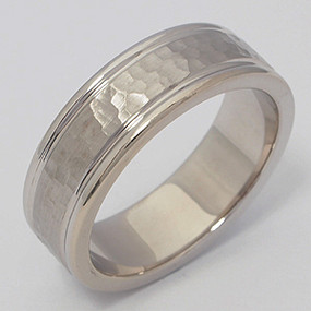 Men's White gold Wedding Band pgwb155-gold-wedding-band