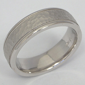 Men's White gold Wedding Band pgwb132-gold-wedding-band