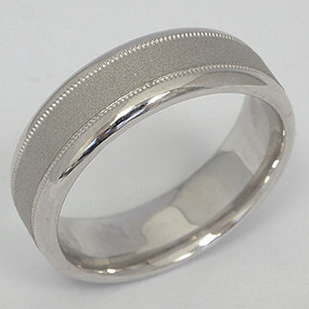 Men's White gold Wedding Band pgwb119-gold-wedding-band