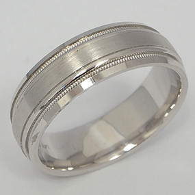 Men's White gold Wedding Band pgwb114-gold-wedding-band