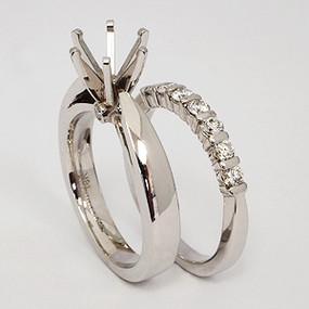 White Gold Wedding Set ws156