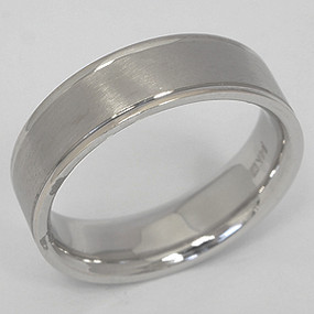 White Gold Wedding Band gwb106