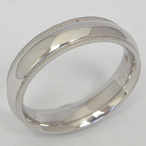 Men's White gold Wedding Band pgwb101-gold-wedding-band