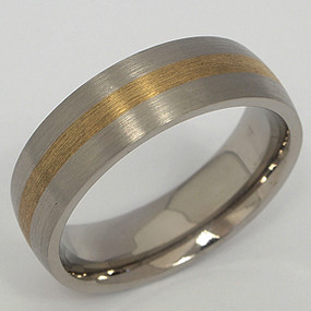 Men's Titanium Wedding Band tita140-titanium-wedding-band
