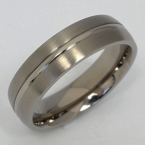 Men's Titanium Wedding Band tita139-titanium-wedding-band