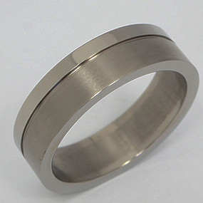 Men's Titanium Wedding Band tita137-titanium-wedding-band