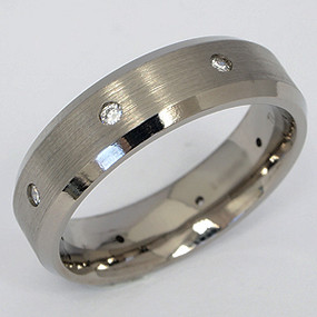Men's Titanium Wedding Band tita131-titanium-wedding-band