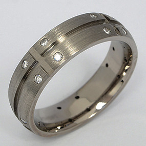 Men's Titanium Wedding Band tita130-titanium-wedding-band