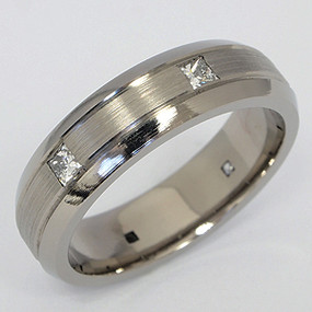 Men's Titanium Wedding Band tita128-titanium-wedding-band