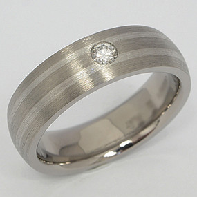 Men's Titanium Wedding Band tita127-titanium-wedding-band