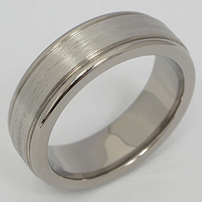 Men's Titanium Wedding Band tita126-titanium-wedding-band