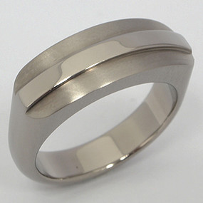 Men's Titanium Wedding Band tita125-titanium-wedding-band