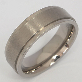 Men's Titanium Wedding Band tita121-titanium-wedding-band