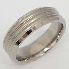 Men's Titanium Wedding Band tita110-titanium-wedding-band
