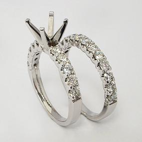 White Gold Wedding Set ws142