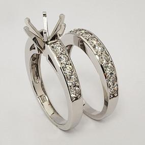 White Gold Wedding Set ws135
