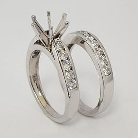 White Gold Wedding Set ws136