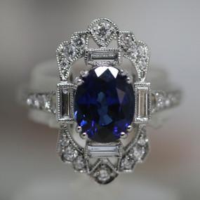 Antique design Sapphire Ring