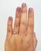 Diamond Cuff Ring On Hand