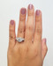Round Diamond Engagement Ring When Worn