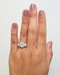Halo Three Stone Engagement Ring When Worn