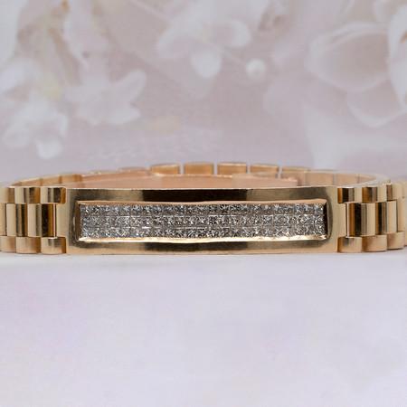 Men's 18 KT Yellow Gold Diamond Bracelet