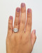 Halo Engagement Ring When Worn
