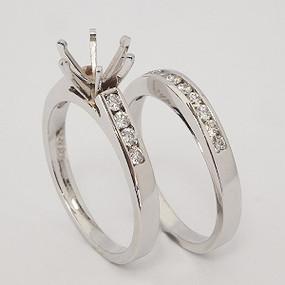 White Gold Wedding Set ws164