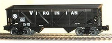 Weaver VGN  2 bay composite hopper car, 3 rail or 2 rail
