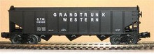 Weaver GTW 3 bay ribbed hopper car, 3 rail or 2 rail