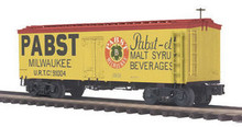 MTH Premier Pabst Milwaukee 36' wood reefer,  3 rail
